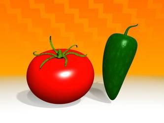 Tomato and Jalapeno by artislight