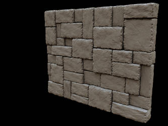 Rockwall - 3D sculpt by artislight
