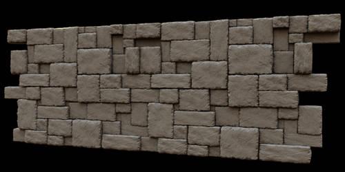 Interlocking Rock Wall by artislight
