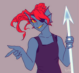 undyne by psychic-beings