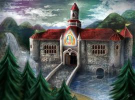 Princess Peach's Castle (Enhanced) by marioPulido