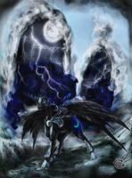 Nightmare Moon portrait by Miradge