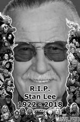R.I.P. Stan Lee by Simbiothero