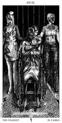 Silent Hill Tarot Card 7th - The Chariot by Demento-Liszt