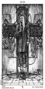 Silent Hill Tarot Card 12th - The Hanged Man by Demento-Liszt