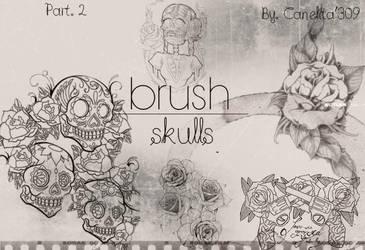 Skull Brushes Part 2 By Canelita309 by SriitaDeWatt