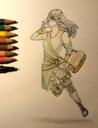 (fantasyart) Forest girl by hesterfunhart