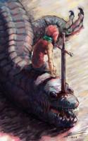 DragonSlayer Girl by NoomiHerran