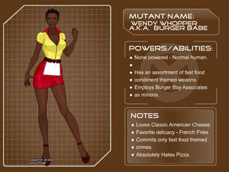 Burger Babe - Character Bio by JGalley0