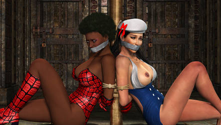 Spider Vixen and Sailor Girl: In Trouble by JGalley0