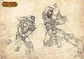 CLIMACTIC: Anduin Lothar vs Ogrim Doomhammer by sanluis