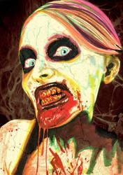 Zombie Woman by opeyuvadown