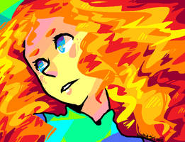 That Fiery Red Head With A Bow by Koolaid-Girl