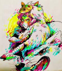 Mononoke Hime by Koolaid-Girl