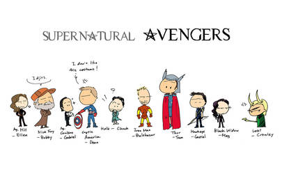Supernatural Avengers by worrynet