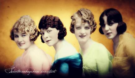 Pretty Flappers Of The Twenties by Idontknowwhoyouknow