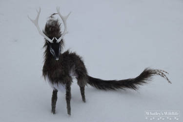 Poseable OOAK Art Doll - Solas - Winter Stag by whatleyswildlife