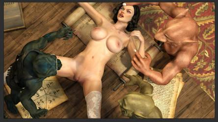 Breathtaking Pleasure - Snow White by Zuleyka3D