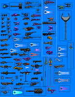 Halo Weapon sprites by 117649-M-I
