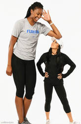 Tall Volleyball player resting by lowerrider
