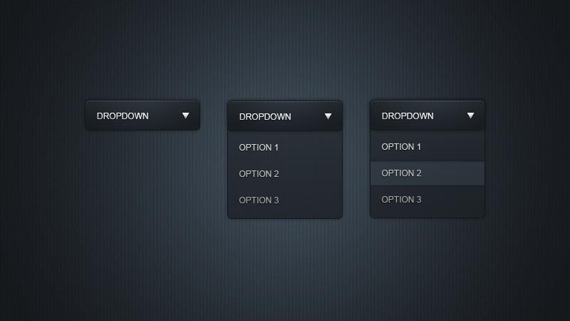 Sleek dropdown menu by Mc-Cabe