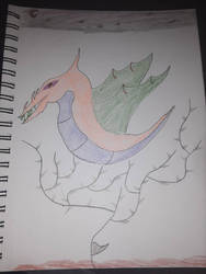 dragon head flying around  by SquidKitty1994
