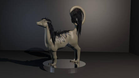 3D model creature by Elomriel