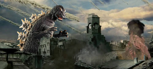 Mechagodzilla (Showa) Vs Rogue Titan *re upload* by KingLittleCaesar