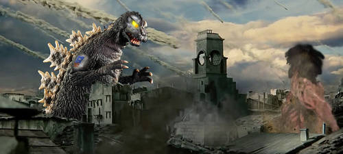 Mechagodzilla (Showa) Vs Rogue Titan *retake* by KingLittleCaesar