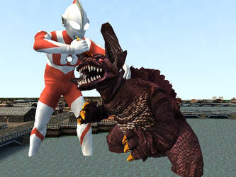 Match 163: Ultraman Vs Baragon by KingLittleCaesar