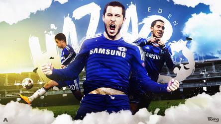 Eden Hazard 2014/15 Wallpaper by AlbertGFX