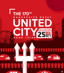 170th Manchester Derby Poster by AlbertGFX