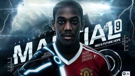 Anthony Martial - Red's Future Hope by AlbertGFX