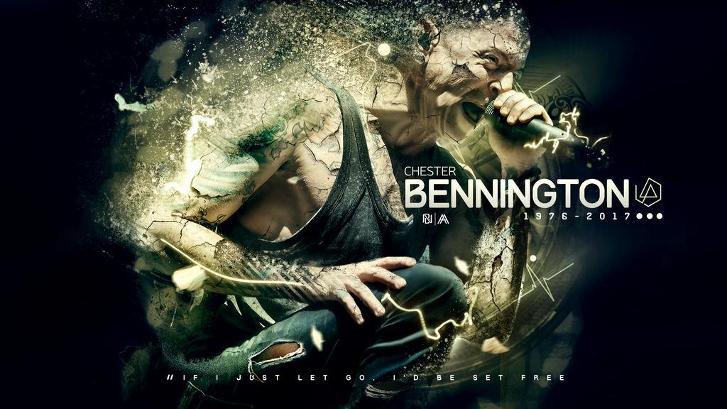 Chester Bennington (Tribute Wallpaper) by AlbertGFX