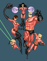 The Incredibles by rainbow-crash29