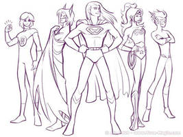 Justice League of Homeville by Vanilleon