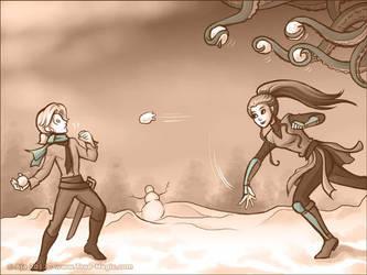 Snow Battle by Vanilleon