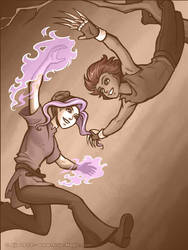 Purplefire vs. Kiku by Vanilleon