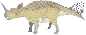 Centrosaurus in color by Tomozaurus