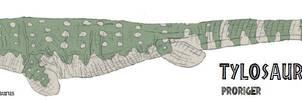 Tylosaurus proriger by Tomozaurus