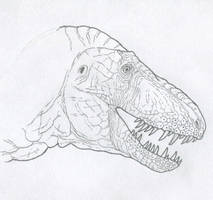 Daspletosaurus horneri, Carr version (raw sketch) by Tomozaurus