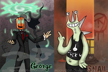 George and Snail by MoonyDash