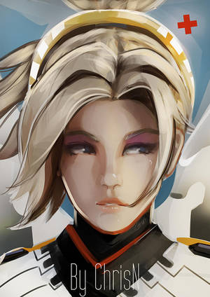 Overwatch's Mercy by ChrisN-Art