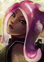 Splatoon 2's Octoling Girl Agent 8 by ChrisN-Art