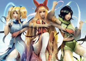 The Powerpuff Girls by ChrisN-Art