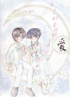 Tomoyo and Eriol by doodlekitten