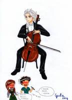 Elsa cello by shishiyoukai