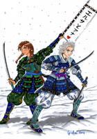Elsanna AU samurai by shishiyoukai