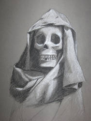 Cloth and Skull - Charcoal by Hyun1990