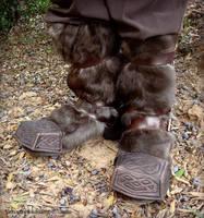 Thorin Boot Caps - Hobbit Movie Costume by rassaku
